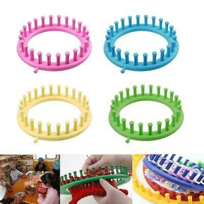 Plastic Round Knitting Loom Set Knit Circle Tool Circular Peg Hat Kit Sock X9M0