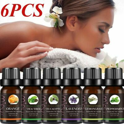 Top 6 Essential Aromatherapy Oils Natural 10ml Oil Fragrances Diffuser Burner UK
