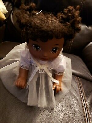 Baby Alive BABY GO BYE BYE Crawling Talking African American Doll