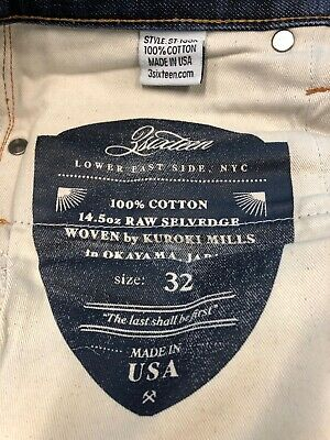3Sixteen Size 32 Raw Selvedge ST-100X Mens Jeans Worn