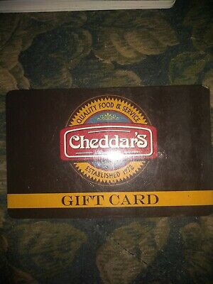 Cheddar's * Used Collectible Gift Card No Value *