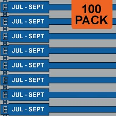 Jtagz 175mm RigTag JUL - SEP Lifting Inspection Tags (BLUE) | PACK OF 100