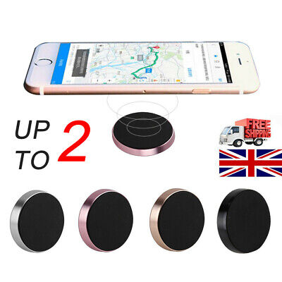2X In Car Magnetic Phone Holder Fits Dashboard Universal Mount Various Colours
