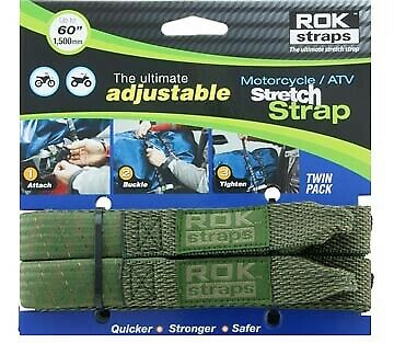 """Motorcycle Quad Luggage ROK Straps 25mm 1"""" 1500mm 60"""" Adjustable camouflage"""