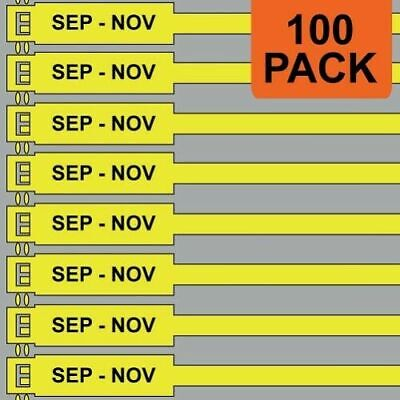Jtagz 175mm RigTag SEP - NOV Lifting Inspection Tags (YELLOW) | PACK OF 100