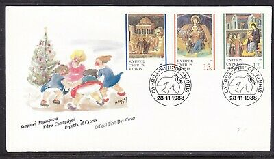 Cyprus 1988 Christmas First Day Cover