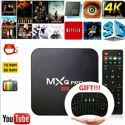 MXQ PRO 4K TV BOX Android 7.1 Quad Core KODI 18.0 Smart Media Player 1GB+8GB OZ