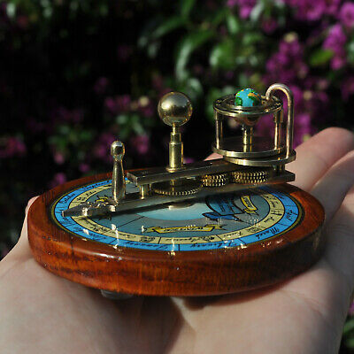 Solid Brass and Wood Miniature Ferguson Paradox Orrery   Astronomy Astronomie