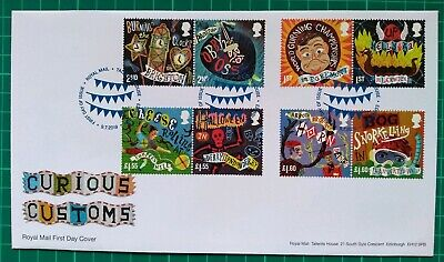 2019 Curious Customs Royal Mail First Day Cover Tallents House pmk