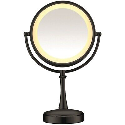Conair Be87Mb Double-Sided Lighted Mirror Touch Control Matte Black