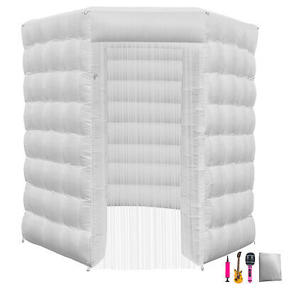 2.5M Inflatable LED Air Pump Photo Booth Tent 7 Colors Proms Oxford Fabric