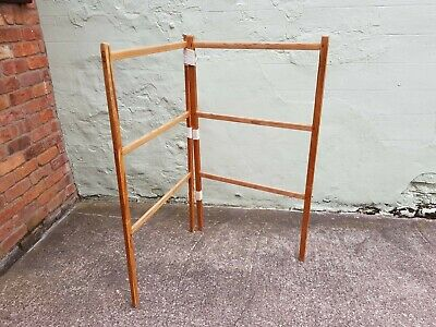 Vintage Wooden Clothes Airer Used.