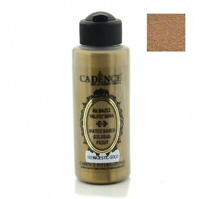 CADENCE Waterbased Gilding Paint 112 Majestic Gold 120ml Decoupage Art Craft