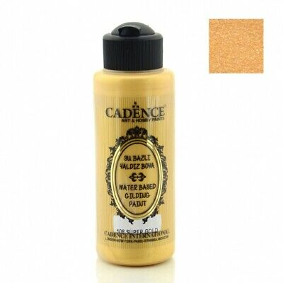 CADENCE Waterbased Gilding Paint 108 Super Gold 120ml Decoupage Art Craft