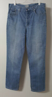 PRINGLE of Scotland Mens Denim Jeans Button-Fly Tall Size 38/35