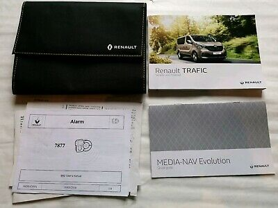 RENAULT TRAFIC OWNERS MANUAL HANDBOOK SERVICE BOOK PAGES WALLET 2014-2019 L-359