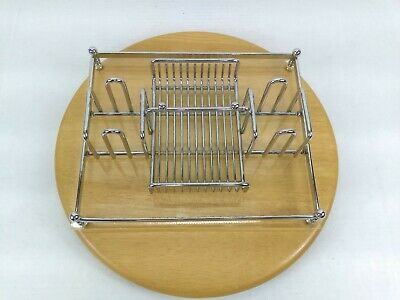 Vintage Barclay Geneve Chrome Flatware Caddy FC1 in Original Box Great Condition