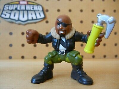 Marvel Super Hero Squad Ultimate NICK FURY Camo Yellow Tank Avengers from Wave 5