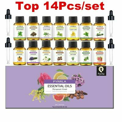Top14Pcs/set Aromatherapy Natural Oil Kit Pure Organic Essential Oils Fragrances