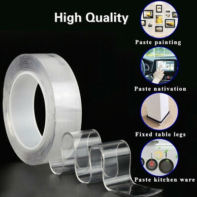 Magic Double Sided Traceless Adhesive Nano Tape Reusable Clear Tape Removable