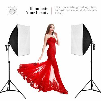 2 x 135W Studio Photography Continuous Lighting Soft Box Light Stand Kit