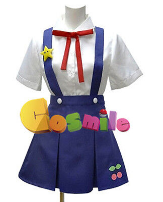 Anime Bakemonogatari Hachikuji Mayoi Cosplay Costum Clothing Prop Whole Set Sa