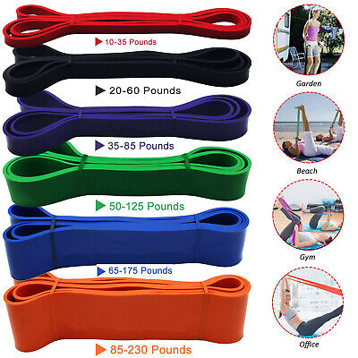 Resistance Band Exercise Heavy Duty Bands Gym Strength Fitness Loop Latex Bands