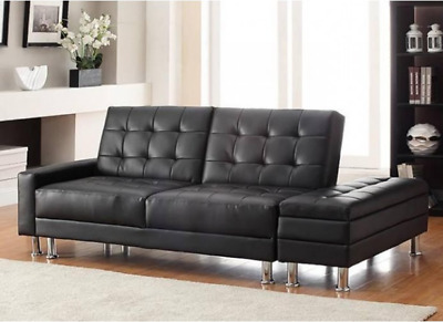 Corner Sofa Bed PU Leather Couch Modern Storage Furniture 3 Seater Room Seat
