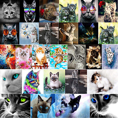 5D Katze Kombination DIY Diamant Malerei Stickerei Diamond Painting Kreuzstich