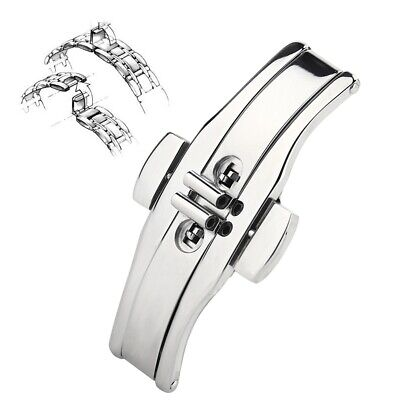 Butterfly-shaped Buckle Automatic Double Click Metal Clasp Wristwatch Strap Band