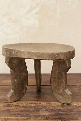 Antique Vintage Primitive East African Tribal Handcarved Milking Stool