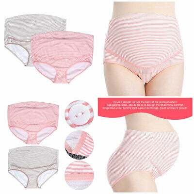 Women's Cotton Pregnant High Waist Adjustable Briefs Underwear Maternity Panties