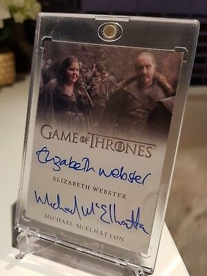 Game of Thrones Valyrian Steel ELIZABETH WEBSTER / MICHAEL McELHATTON Dual Auto