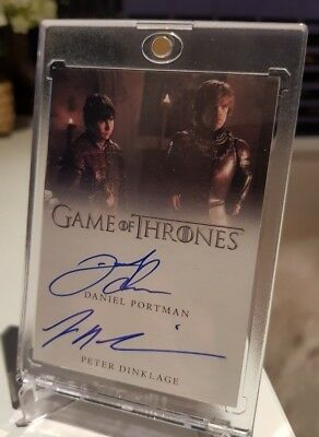 PETER DINKLAGE DANIEL PORTMAN Dual Autographs Signatures Game of Thrones RARE!