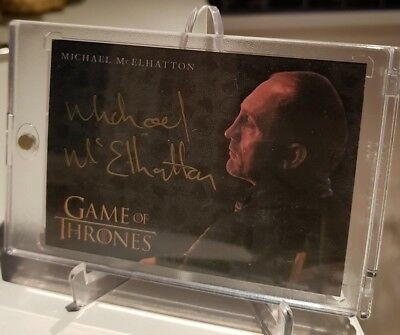 MICHAEL McELHATTON Roose Bolton Gold Autograph Game of Thrones Valyrian Steel