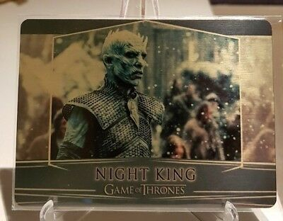 Game of Thrones Valyrian Steel NIGHT KING Gold Metal Base Card /100