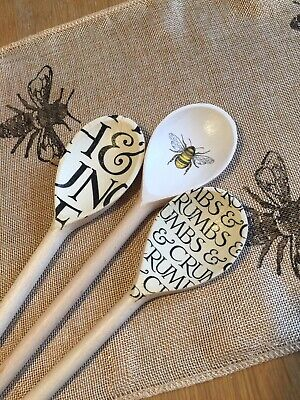Emma Bridgewater Themed Set Of 3 Utensils - Black Toast And Bumble Bee