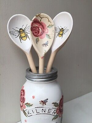 Emma Bridgewater Themed Set Of 3 Utensils - Rose & Bee And Bumble Bee