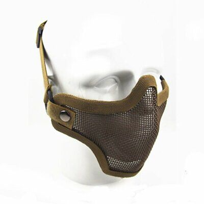 Tactical Airsoft Half Face Mask Metal Steel Mesh Face Cover Protective Mask New
