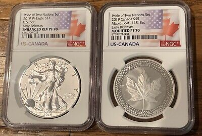 2019 Pride of Two Nations 2 Coin Set NGC PF 70 Early Release In Stock!