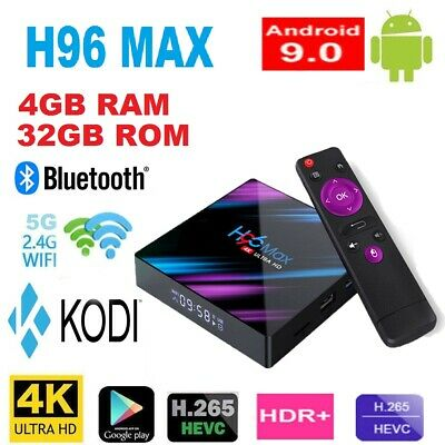 NEW H96 MAX Android Box, 4G+32GB Android 9.0 smart tv 4K TV Bluetooth 4.0 wifi