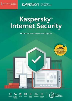 Kaspersky Internet Security 2019 3 PC  1 Anno Licenza, Download