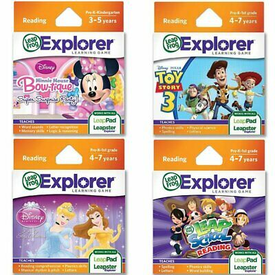 LeapFrog Educational Reading Learning Game Cartridge Leapster LeapPad Kids Toy