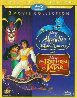 Aladdin 2 &3 : 2-Movie Collection- Special Ed.  [Blu-ray+ DVD] New and Sealed!!