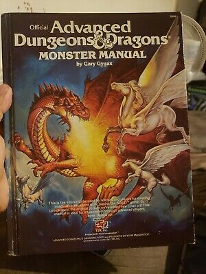 Rare Vintage 1979 Advanced Dungeons & Dragons Monster Manual Tsr 2009 1988 Print