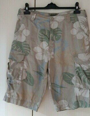 Mens Cargo Combat Shorts with Belt by Dissident /'Finsbury/' Enzyme Washed