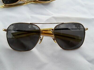 American Optical 5 1/2  Ao Gold Tone Vintage Aviator Sunglasses  Payment Options