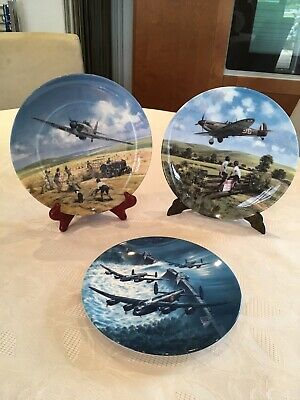 Royal Doulton/Worcester Collection of Three Spitfire/Dambusters/Hurricane Plates