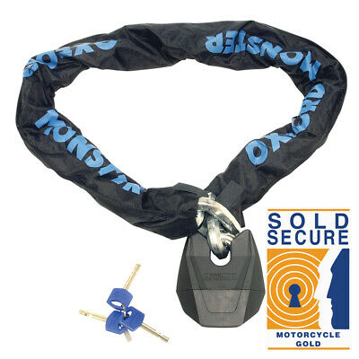 Oxford Monster XL Motorcycle Motorbike Chain Lock SOLD SECURE 14.5mm  x 1.5m