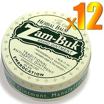 12x Zam Buk Antiseptic Ointment Embrocation Herbal Balm Relieve Pain Sprains 20g